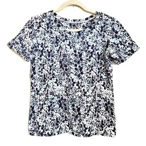 Allyson Whitmore Floral Short Sleeve Top Petite Sm